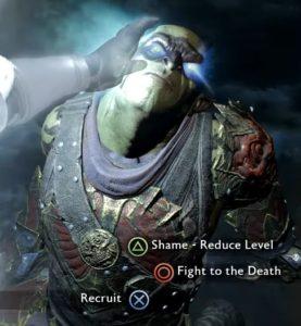 shame- reduce level