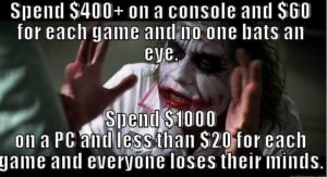 pc gaming joker meme