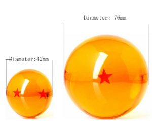 small dragonball replica vs big replica