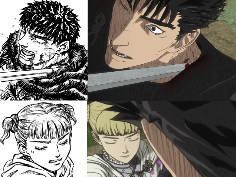 Lady Farnese vs gut manga vs anime