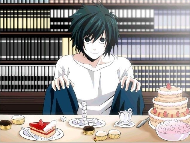 l eating sweets