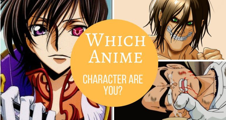 which anime character are you quiz