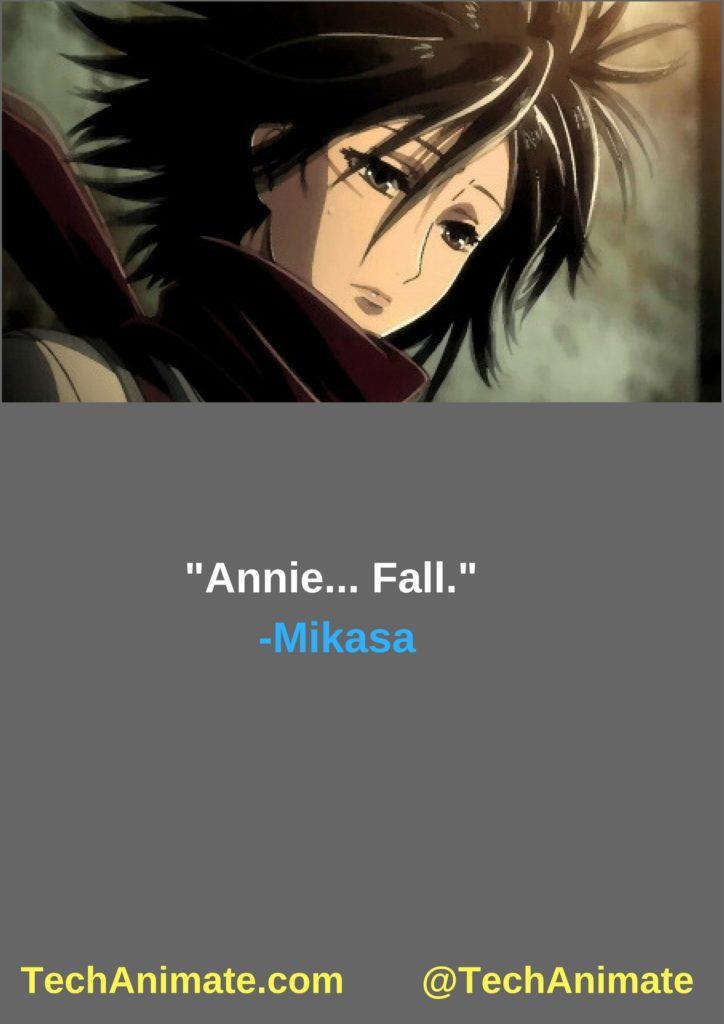 Mikasa Ackerman Quotes