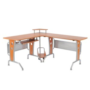 HomCom 61 l shaped office desk