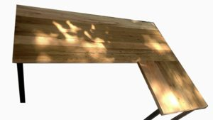 wooden L Shaped Gaming Desk